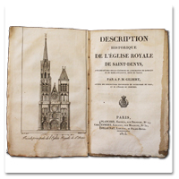 gilbert, description, histoire, eglise, saint-denys, saint-denis, basilique, paris, 1815, gravure, illustration