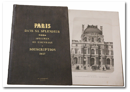 paris, histoire, paris dans sa splendeur, 1857, 1861, souscription, specimen, henri charpentier, lithographies, second empire