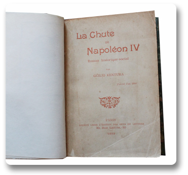 paris, histoire, anticipation, guilio ventura, napoleon IV, an 2000, 1899, roman d'anticipation, edition originale, gens de lettres