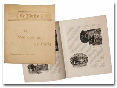 paris, histoire, transports, metropolitain, leon gaumont, le matin, supplement illustre, 1900, photographies, metro