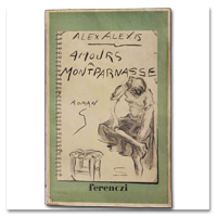 alexis, alessio, amours montparnasse, ferenczi, 1936, originale, velin