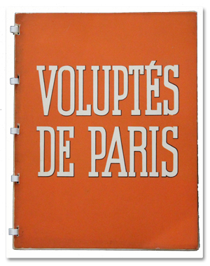 brassai, livre, photos, voluptes de paris, paris, paris-publications, 1934, nus, nuit, noctambules