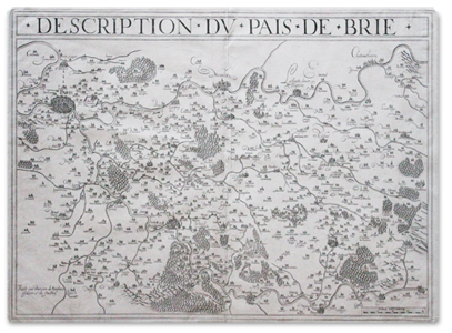 damien de templeux, description pais brie, carte, plan, gravure, originale, geographie, paris