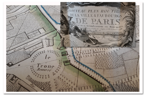 paris, plan, plan routier, plan original, esnaut et rapilly, an X, révolution francaise, 1802, arrondissements