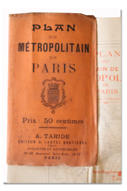 paris, plan, metropolitain, metro, taride, 1903, plan original, vintage map, subway
