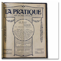 revue, pratique automobile, sport, voiture, 1920, reliure, illustrations, publicites